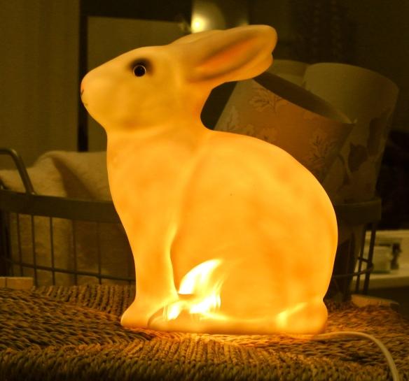 Een of andere nepkonijn in brand...