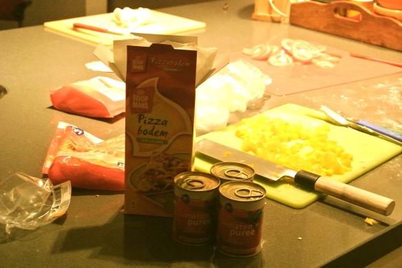 pizza maken, mmm....